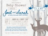 Deer themed Baby Shower Invitations Deer Baby Shower Invitations