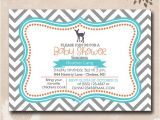 Deer themed Baby Shower Invitations Items Similar to Deer theme Baby Shower Invitations