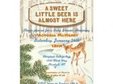 Deer themed Baby Shower Invitations Vintage Baby Shower Winter Woodland Deer Invites