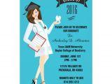 Dental Graduation Invitations Dental School Graduation Invitation Female Dds