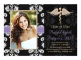 Dental School Graduation Invitations Purple Dental School Graduation Announcements Zazzle