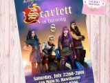 Descendants Party Invitations Printable Free Descendants 2 theme Invitation Card