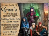 Descendants Party Invitations Printable Free Disney Descendants Birthday Invitation Disney Descendants