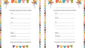 Design Birthday Invitations Free Printable Best Compilation Of Printable Birthday Party Invitations