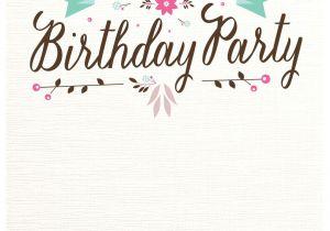 Design Birthday Invitations Free Printable Flat Floral Free Printable Birthday Invitation Template