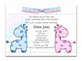 Design My Own Baby Shower Invitations Baby Shower Twin Invitations