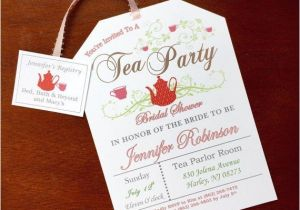 Design Your Own Bridal Shower Invitations Bridal Shower Tea Party Invitations