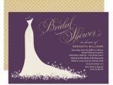 Designer Bridal Shower Invitations Bridal Shower Invitation Elegant Wedding Gown Zazzle Com