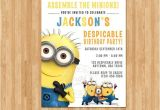 Despicable Me Baby Shower Invitations 1000 Ideas About Minion Birthday Invitations On Pinterest