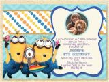 Despicable Me Baby Shower Invitations Despicable Me Birthday Invitations with Photo