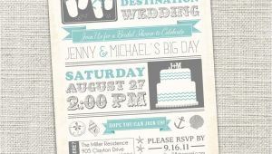 Destination Wedding Bridal Shower Invitation Wording Bridal Shower Invitation Beach Destination Wedding Beach