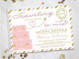 Destination Wedding Bridal Shower Invitations Traveling From Miss to Mrs – Destination Wedding Bridal