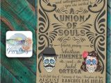 Dia De Los Muertos Wedding Invitations Day Of the Dead themed Wedding Invitation