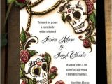 Dia De Los Muertos Wedding Invitations Dia De Los Muertos Sugar Skull Wedding Invitations or Save the