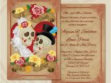 Dia De Los Muertos Wedding Invitations Dia De Los Muertos Wedding Invitation Close Up by