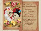Dia De Los Muertos Wedding Invitations Dia De Los Muertos Wedding Invitation Close Up by