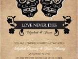 Dia De Los Muertos Wedding Invitations Halloween Wedding Invitations Day Of the Dead Skulls