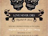 Dia De Los Muertos Wedding Invitations Halloween Wedding Invitations Day Of the Dead Skulls