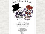 Dia De Los Muertos Wedding Invitations until Death Do Us Part Wedding Invitation Sugar Skulls