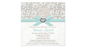 Diamond Bridal Shower Invitations Blue Pearl Lace Diamond Bridal Shower Invitations