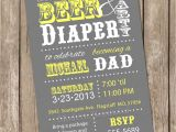 Diaper and Beer Party Invitations Beer and Diaper Baby Shower Invitation Grey and Yellow Beer