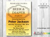 Diaper and Beer Party Invitations Instant Download Pdf Beer and Diaper Party Invitation Beer