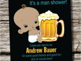 Diaper and Beer Party Invitations Man Shower African American Beer and Babies Diaper Party