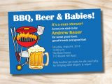 Diaper and Beer Party Invitations Man Shower Bbq Beer and Babies Diaper Party Invitation