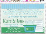 Diaper and Wipes Party Invites 372 Diy Diapers and Wipes Party Invitation or Thank You