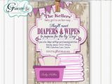 Diaper and Wipes Party Invites Baby Shower Invitation Diaper and Wipes Baby Shower