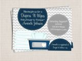 Diaper and Wipes Party Invites Items Similar to Diaper and Wipe Gray Navy Baby Boy