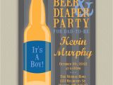 Diaper Party Invitation Beer and Diaper Party for Dad Printable by Doubleudesign