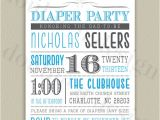 Diaper Party Invitation Diaper Party Printable Invitation with Color by Doubleudesign