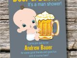 Diaper Party Invitation Man Shower Beer and Babies Diaper Party Invitation