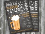 Diaper Poker Party Invitations Diapers for Dad Poker Pilsners Pampers Party Man Shower