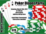 Diaper Poker Party Invitations Poker Diaper Party Card Digital File 4×6 or 5×7 by