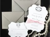 Die Cut Wedding Invites Die Cut Wedding Invitations too Chic Little Shab