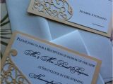 Die Cut Wedding Invites Lasercut Wedding Invitation Sleeve Pocket Elegant Swirl