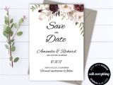 Difference Between Save the Date and Wedding Invitation Floral Save the Date Wedding Template Floral Wedding Save
