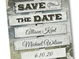 Difference Between Save the Date and Wedding Invitation Rustic Sign Post Save the Date Card