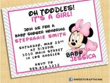 Digital Baby Shower Invitations Email Baby Minnie Invitation Baby Shower Birthday Invite