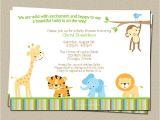 Digital Baby Shower Invitations Email Digital Jungle theme Baby Shower Invitation Safari Zoo