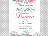 Digital Baby Shower Invitations Email Floral Baby Shower Invitations Digital by Lemonberryboutique