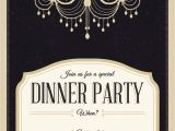 Dinner Party Invitations Free Classy Chandelier Free Printable Dinner Party Invitation