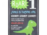 Dinosaur 1st Birthday Party Invitations Boys Dinosaur Chalkboard 1st Birthday Invitation Zazzle