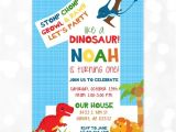 Dinosaur 1st Birthday Party Invitations Dinosaur Birthday Invitation Dino Party 1st Birthday T Rex