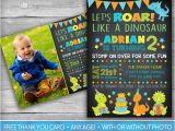 Dinosaur 1st Birthday Party Invitations Dinosaur Invitation Dinosaur Invite First Birthday