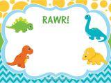 Dinosaur Party Invitation Template Free Free Dinosaur Birthday Invitations Free Printable