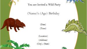 Dinosaur Party Invitation Template Free Free Printable Invite Dinosaur Party In 2019 Dinosaur
