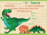 Dinosaur themed Party Invitations Boys Dinosaur theme Birthday Party Invitations Kids